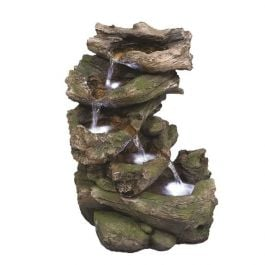 Virginia Driftwood Falls Natural Style LED Water Feature