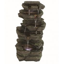 Solar Powered Slate Falls LED Water Feature