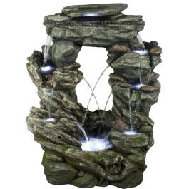 Connecticut Rock Falls Natural Style LED Water Feature