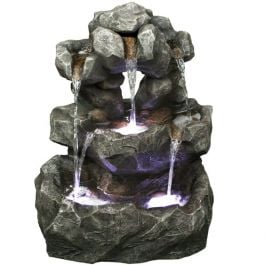Louisiana Rock Falls Natural Style LED Water Feature