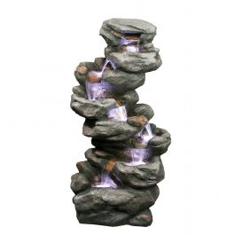 7 Fall Rock Natural Style LED Water Feature