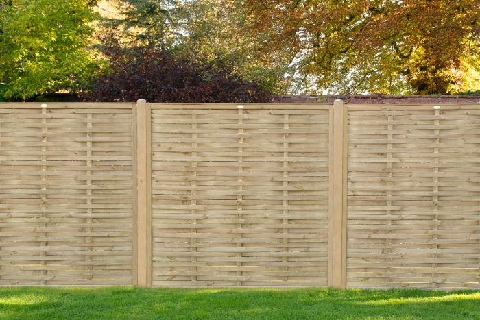 6ft x 6ft Fence Panel Pack of 3 - Pressure Treated Woven