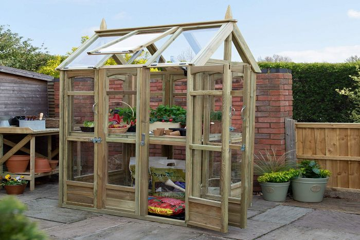7Ft x 3Ft Victorian Walk Around Greenhouse by Forest Garden