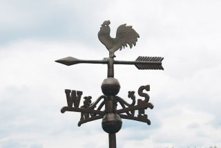 Rooster Weathervane , Cast Iron - 96cm