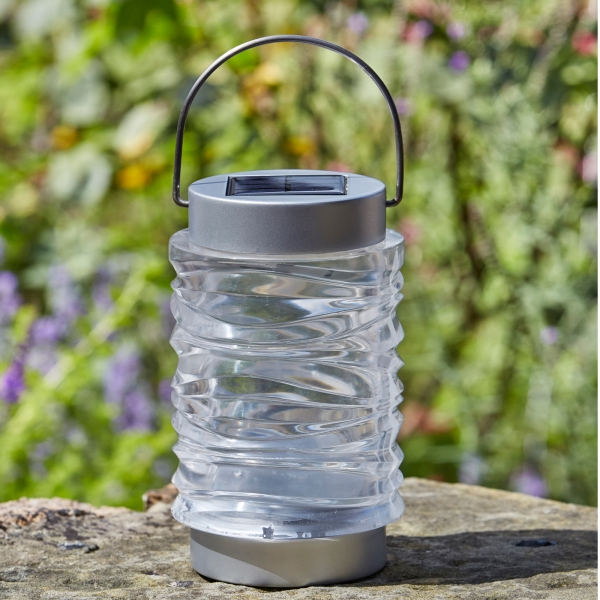 Pack of 2 Wave Stainless Steel Lanterns by Smart Solar