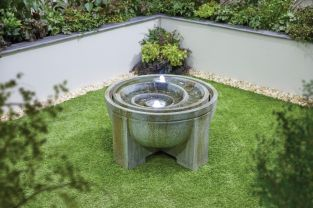 H51cm Fossil Stone Effect Water Feature with Lights
