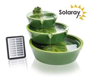 H64cm Frog Cascading Solar Water Feature by Solaray