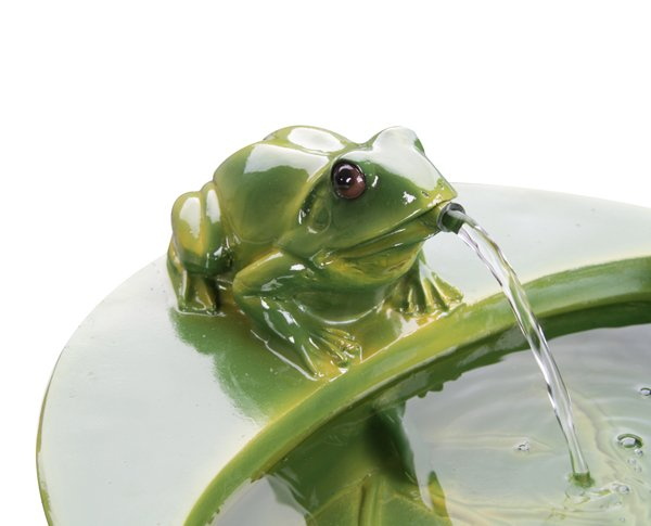 Solar Frog Cascade Water Feature by Solaray™ - H64cm