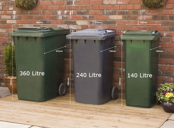 240l Amp 180l Double Chest Pressure Treated Wheelie Bin