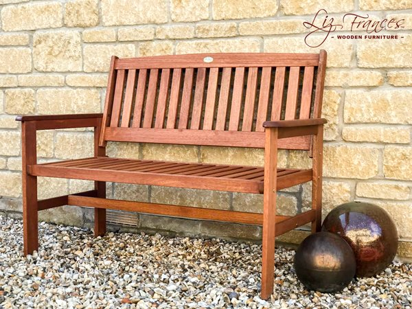 Oakham Hardwood 2 Seater 1.2m Garden Bench By Liz Frances™