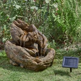Solar Cascading Log Water Feature - 45cm