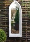 2ft 5in x 10in Large Plain Gothic Arch Outdoor Glass Mirror
