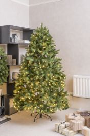 7ft Newberry Spruce Prelit LED Artificial Christmas Tree