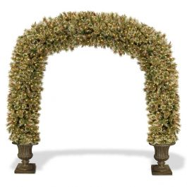 8.5ft Glittery Bristle Pine Prelit LED Archway Mains Powered