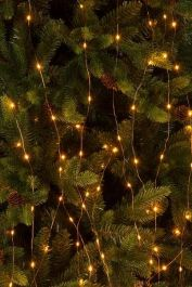 200 Amber LED Twinkling Branch Fairy Lights (10 Strings)