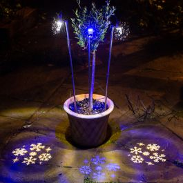 3 Cool White  Snowflake  Projector Lights