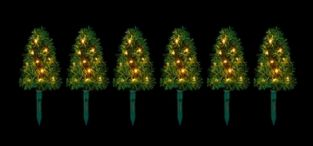 Set of 6  40cm Warm White Christmas Tree Path Lights