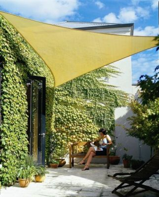 Coolaroo Desert Sand Sail Shade - Triangle 5.0m