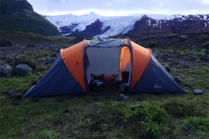 Our tent in Iceland