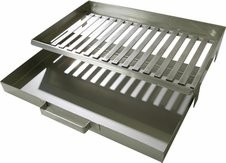 Fire Grate and Ash Box for Buschbeck Outdoor Fireplace