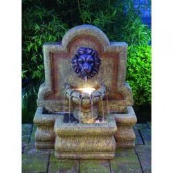 Nemean Lion Water Feature With Lights