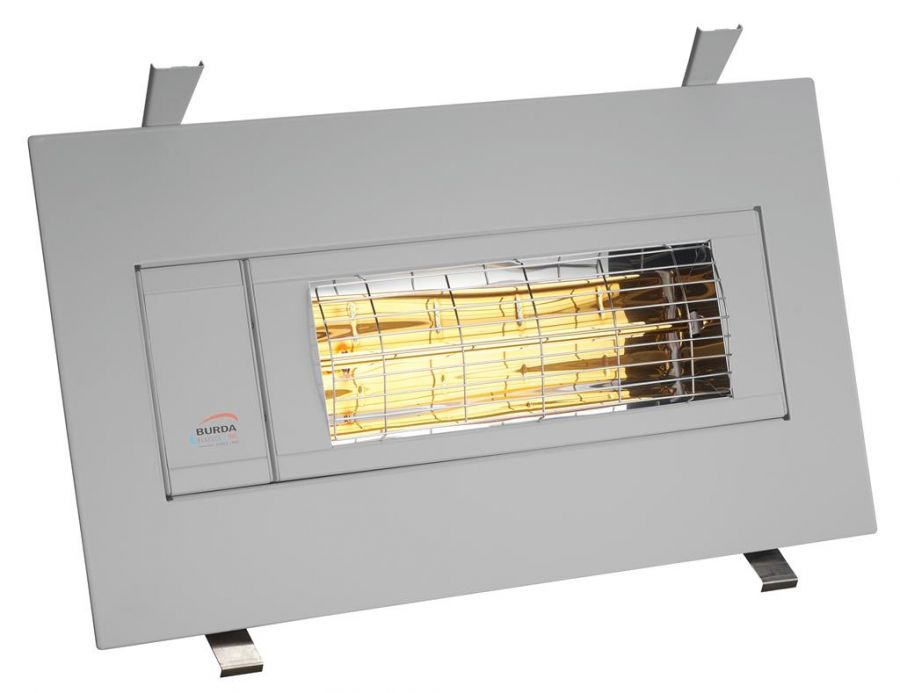 2kw Silver Infrared Heater Flush Mounted by Burda™