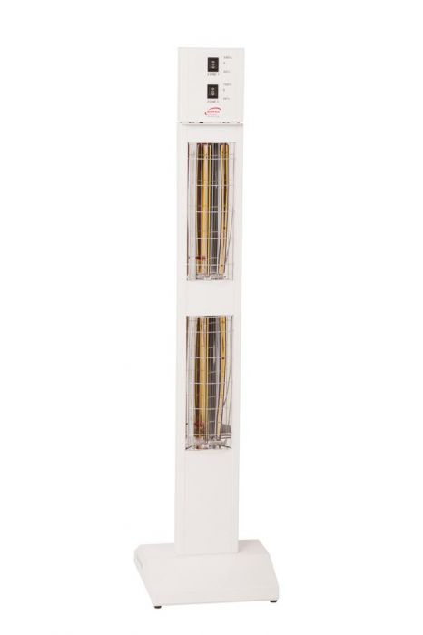 3kw White Infrared Tower Heater with Ultra Low Glare by Burda™