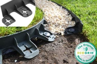 45m Flexible Garden Edging (60x 80cm packs) in Black - H6cm by EcoGrid™