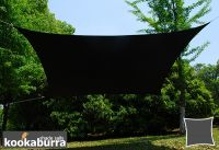 Kookaburra 5.4m Square Black Waterproof Woven Shade Sail