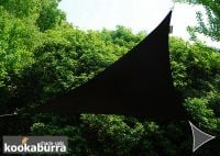 Kookaburra 6m Right Angle Triangle Black Waterproof Woven Shade Sail