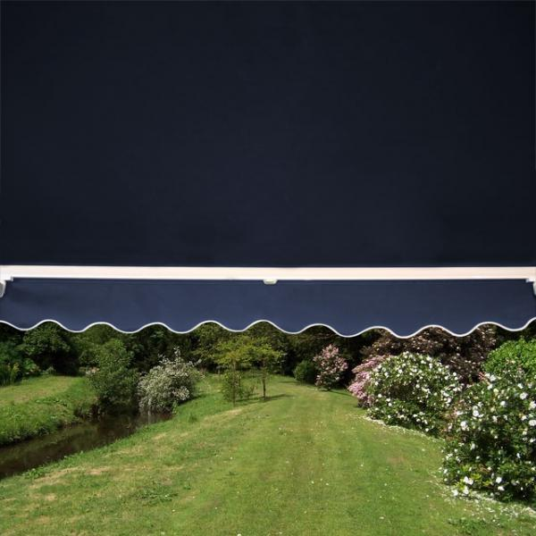 3.5m Half Cassette Electric Awning, Plain Dark Blue