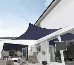Kookaburra® 3m Square Blue Breathable Shade Sail (Knitted)