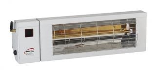 2kw Silver Infrared Heater with Bluetooth and Low Glare by Burda™