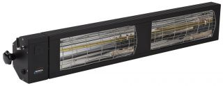 3kw Black Infrared Heater with Bluetooth and Low Glare by Burda™