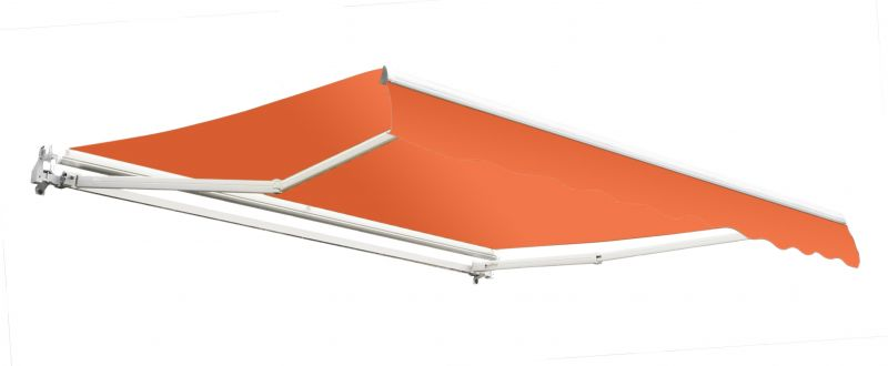 4.0m Budget Manual Awning, Terracotta