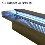 Stainless Steel Cascade Waterfall - Blue LED Light L60cm
