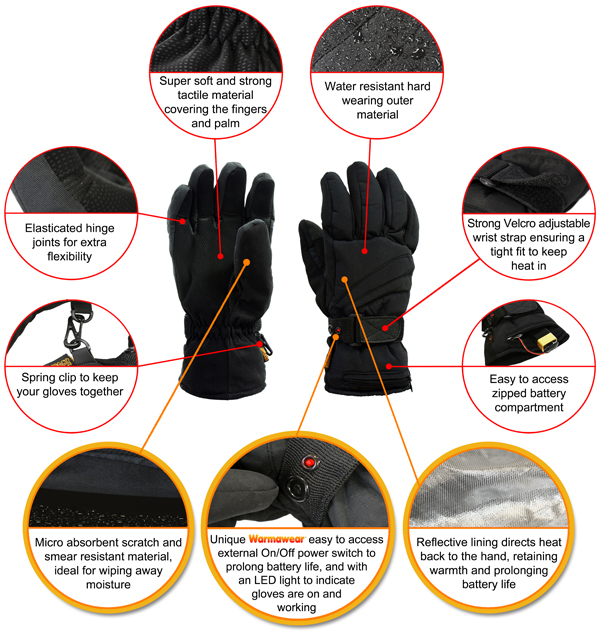Warmawear Deluxe Battery Heated Gloves