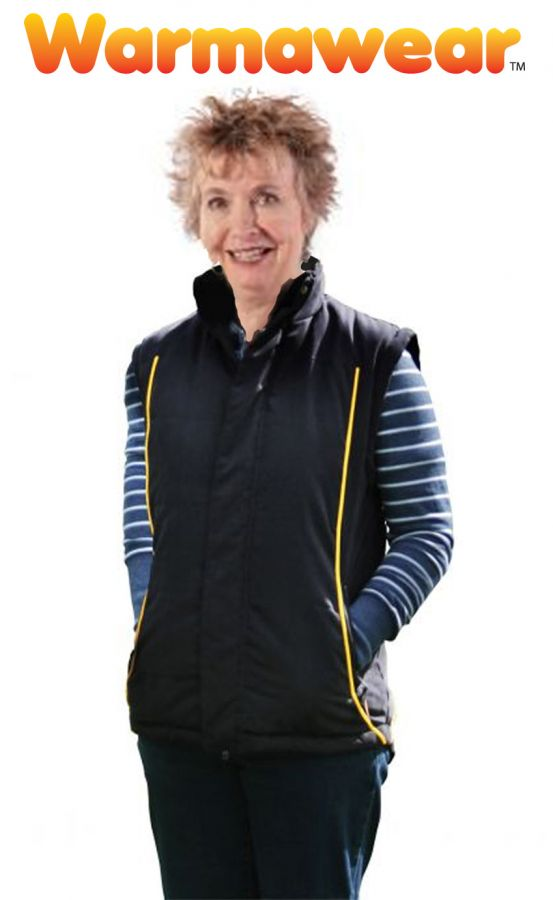 Rechargeable Warmawear™ Deluxe Heated Waistcoat / Gilet - Ladies