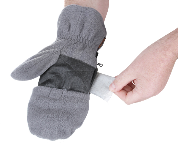 Dual Fuel Fleece Heated Mittens with Free Toe Warmers by Warmawear™