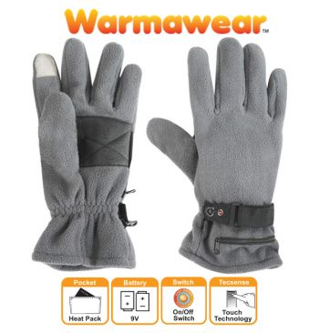 Dual Fuel Fleece Battery Heated Gloves by Warmawear™