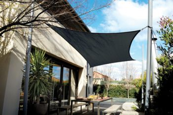 Coolaroo Charcoal Sail Shade - Square 3.6m