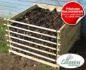 Easy-Load Wooden Compost Bin - Medium - 530 Litres - by Lacewing�