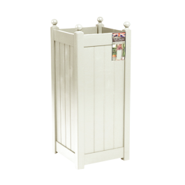 90.5cm Tall Timber Cream Classic Planter