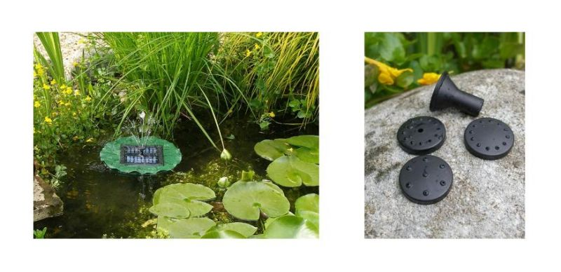 Floating Lily Solar Fountain