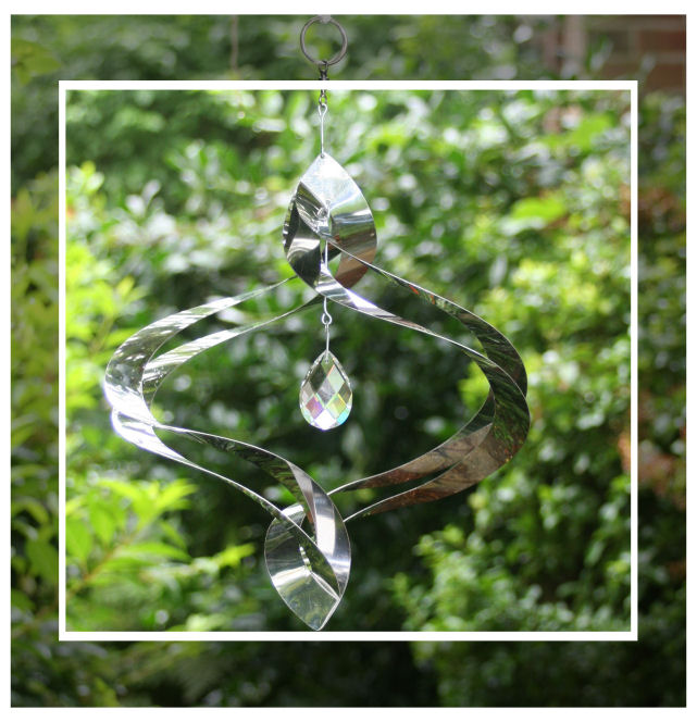 Stainless Steel Crystal Helix Hanging Wind Spinner