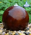 45cm Dark-wood Effect Colour Changing Sphere Water Feature With LED Lights