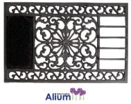 Buckingham Cast Iron Doormat with Brush and Scraper - Black