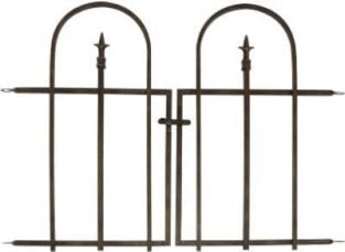 Arched Finial Fence Section in Brushed Bronze