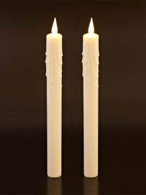 "Electronic 10"" Dinner Candles - Set Of Two"