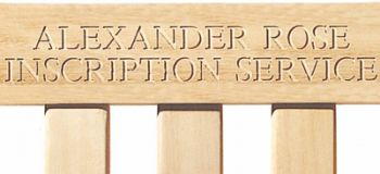 Personalised Alexander Rose Farmer's 1.57m (5ft) Pine High Back Commemorative Memorial Bench
